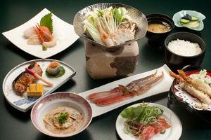 【1泊2食付】かにしゃぶ和食膳と手作り60品朝食バイキング
