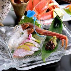 タグ付松葉かに☆蟹刺し・茹で蟹・焼き蟹で!かにすきスタンダードプラン