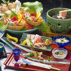 【部屋食】【グルメ旅】静岡ブランド豚&静岡地鶏の石焼と海鮮料理