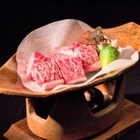【グレードアップ】夕食をちょっと贅沢に♪ 信州産牛の『陶板ミニステーキ』付き会席にアップ!