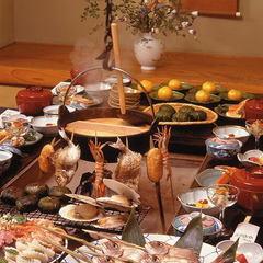 【早期14】囲炉裏夕食♪2週間前までご予約がお得!でか!160g超の鮑炭火焼&山形和牛A4ステーキ♪