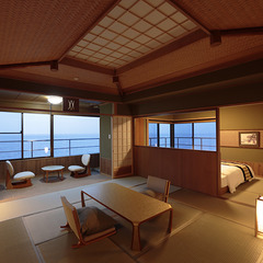 角部屋特別室「紺碧の富士」海と富士山を一望