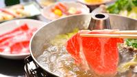 旬の味覚【しゃぶしゃぶ】上州牛と地元産の野菜を堪能
