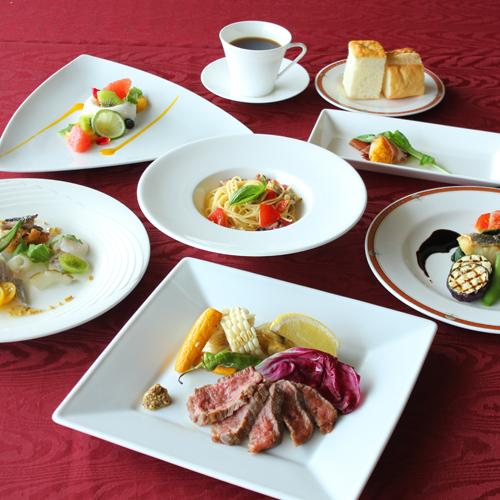 加賀創作イタリアンコース☆食欲をそそる新鮮な野菜、ボリュームたっぷりのメイン料理に舌鼓
