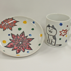 【絵付け体験♪】九谷焼発祥の地で、自分だけのオリジナルマグカップ&お皿を描こう!1日10名様限定