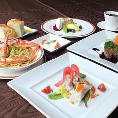 【蟹イタリアン】お手軽ズワイ蟹コース。地物野菜と北陸味覚を使用した、冬限定イタリアンコース!