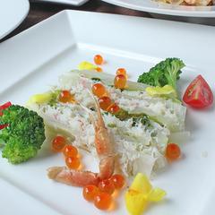 【蟹イタリアン】グレードアップ蟹フルコース。北陸ズワイ蟹の前菜とパスタ・黒毛和牛を贅沢に食す!