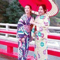 【きもので箱根散策】きもの着付&レンタル付◆箱根の名湯と旬の味を愉しむ!和食会席膳