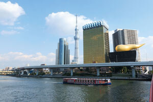 東京タワーと浅草隅田川下り