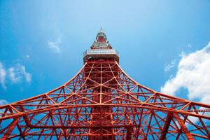 東京タワーと国会議事堂(ロイヤルパークホテル ザ 汐留の絶景レストランブッフェ)