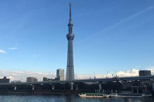 築地場外市場と東京スカイツリー®