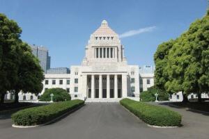 国会議事堂と東京スカイツリー®天望回廊