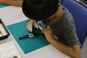 夏休み東京絵日記(防災体験とセイコー腕時計の組立実習)
