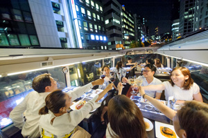 ■レストランバスで巡る東京■【和モダンメニュー ディナーコース】【日比谷 出発】
