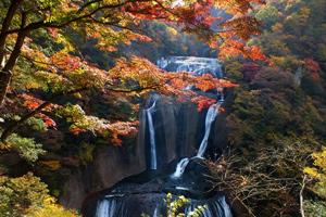 日本三名瀑「袋田の滝」&「竜神大吊橋」紅葉観賞バスツアー ~奥久慈旬食材を使った「和食御膳」のお食事付~