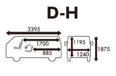 ニッポンレンタカーのDH【AT車】(ワンボックスバン、350kg)-標準コース