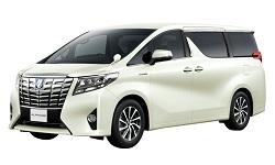 KUROBUTAレンタカーの★車種確約★ 新型アルファード 8人乗りミニバン リアモニターでDVD視聴可能