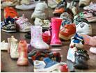 廊下に靴がいっぱい!
