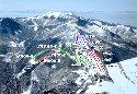 鹿沢スノーエリアのイメージマップ
