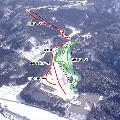雁が原スキー場のイメージマップ