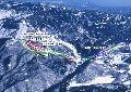 志賀高原中央エリア「 ジャイアント・西館山」スキー場のイメージマップ