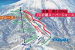 おんたけ2240スキー場のイメージマップ