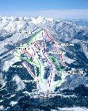 ウイングヒルズ白鳥リゾートスキー場のイメージマップ