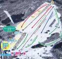 ひるがの高原スキー場のイメージマップ