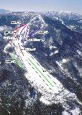 ひだ舟山スノーリゾートアルコピアのイメージマップ