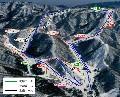 奥伊吹スキー場のイメージマップ