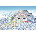 サホロリゾートスキー場のイメージマップ