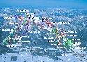 富良野スキー場のイメージマップ