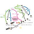 おじろスキー場のイメージマップ