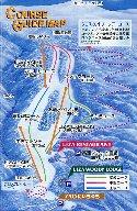 蔵王ライザワールドスキー場のイメージマップ