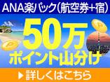 ANA楽パック 50万ポイント山分けCPN