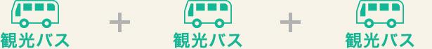観光バスのみ3回予約でもOK!