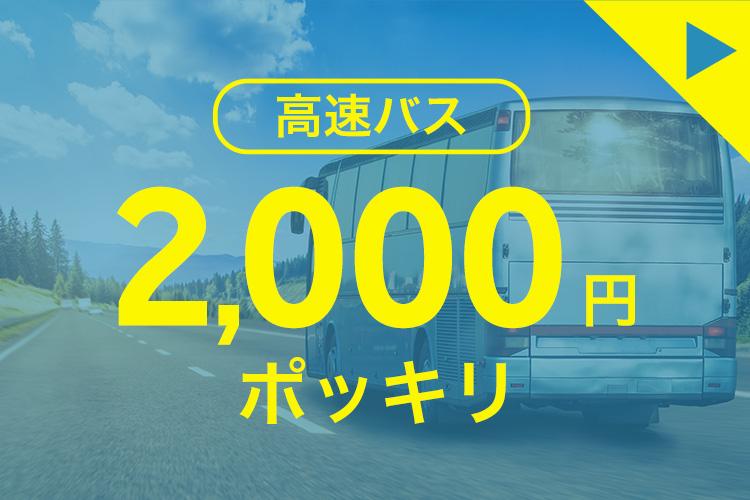 高速バス 2,000円ポッキリ