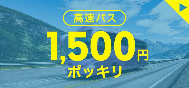 高速バス 1,500円ポッキリ