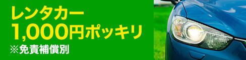 レンタカー1,000円ポッキリ