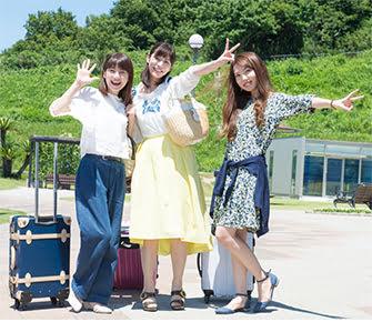 旅中の女性達