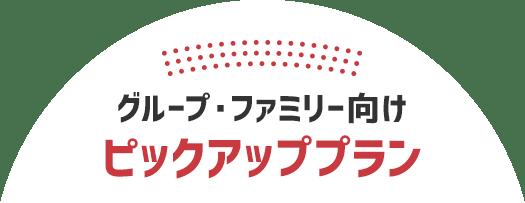 グループ・ファミリー向け ピックアッププラン