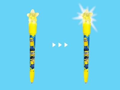 ミニオンの光るボールペン
